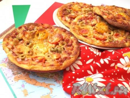 Мини-пицца из творожного теста