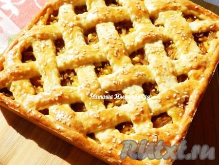 Пирог с капустой на сметане