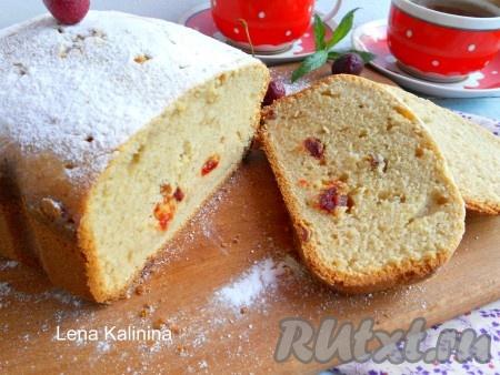 Рецепт творожного кекса в хлебопечке