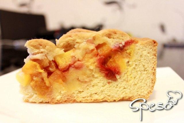 Теплый персиковый пирог для Вашего хорошего настроения