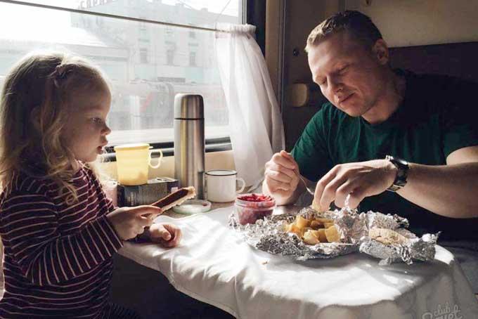 Еда в дальнюю дорогу на поезде